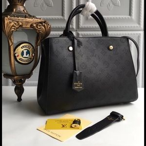 Louis Vuitton Montaigne black bag